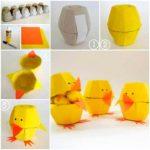 Цыплёнок из яичных ячеек
