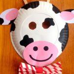 Коровка из бумажной тарелки