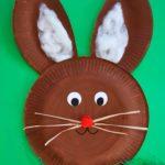 Заяц из бумажной тарелки