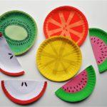 Фрукты из бумажных тарелок