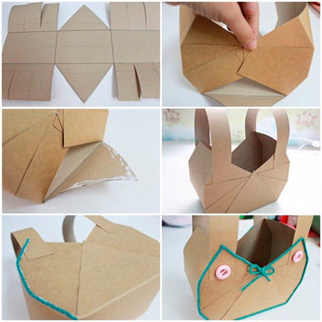 Создание корзинки из картона