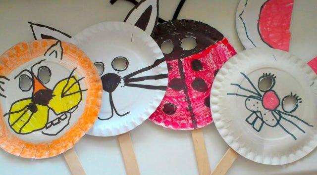 Маски из бумажных тарелок