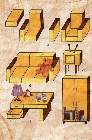 Комод, органайзер из спичечных коробков
