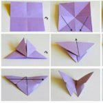 Схема оригами бабочек