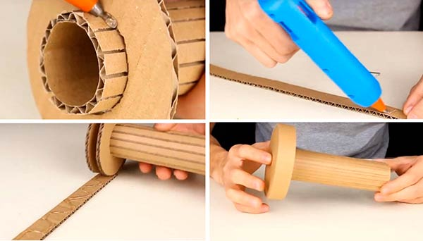 Создание копилки из картона