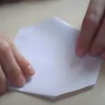 Складывание бумажного кастета оригами