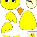 Аппликация цыпленка по шаблонам
