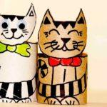 Кошки из бумаги