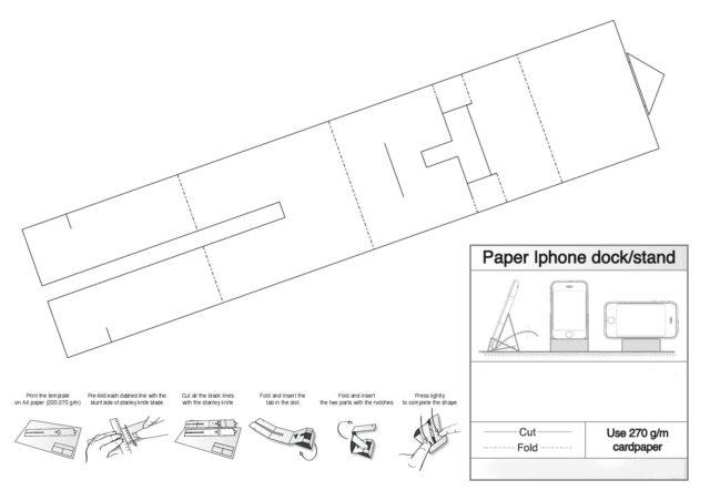Шаблон для подставки под телефон, распечатать и вырезать