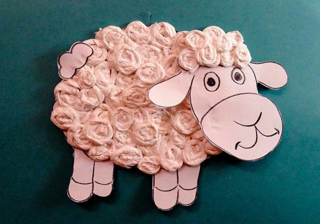 Аппликация овечка