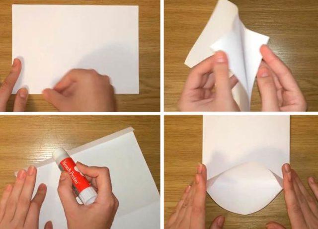 Бумажный пакет: складывание