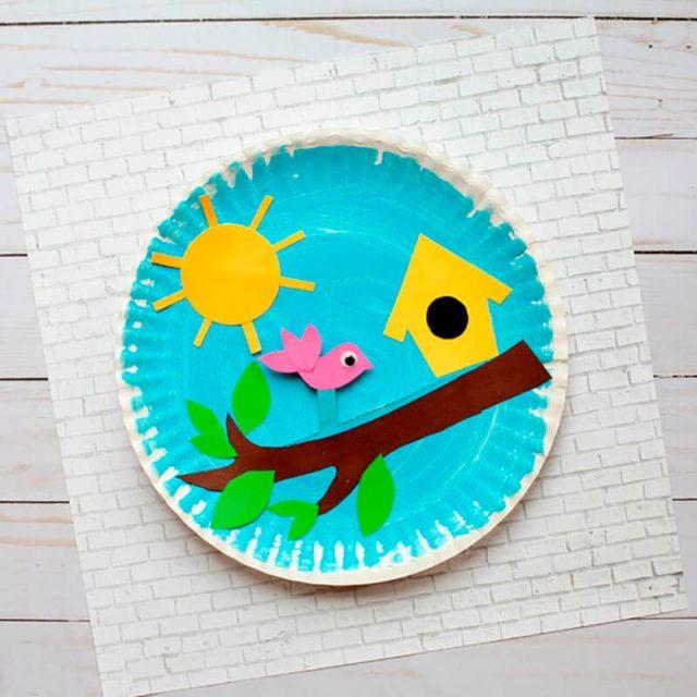 Аппликация на бумажной тарелке