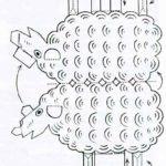 Шаблон овечки