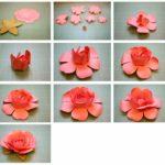 Создание цветов из бумаги