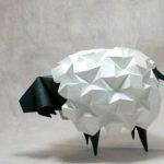Поделка овечки из бумаги