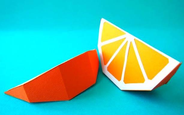 Дольки апельсина из бумаги
