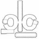 Буква с, схема, шаблон для распечатки и вырезания