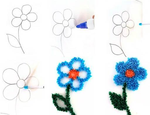 Как сделать цветок в технике торцевания