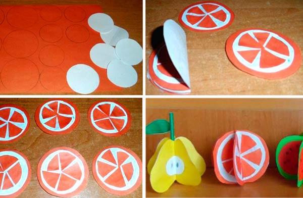 Аппликация апельсина