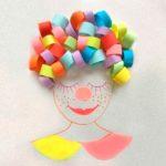 Клоун из бумажных лент