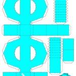 Буква ф, схема, шаблон для распечатки и вырезания