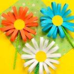 Цветы из бумажных полосок