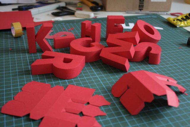 Буквы из бумаги объемные