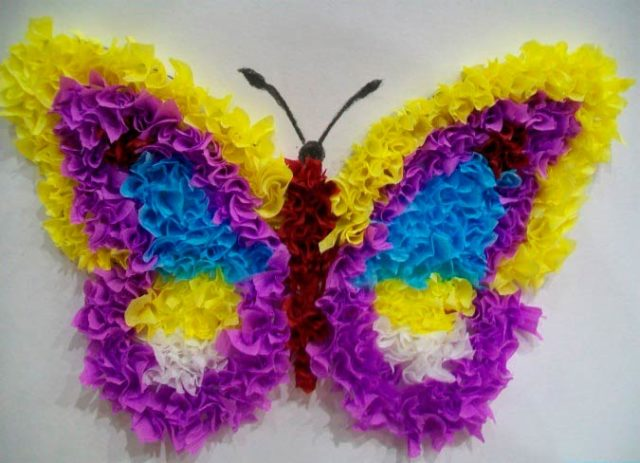 Бабочка сделанная методом торцевания