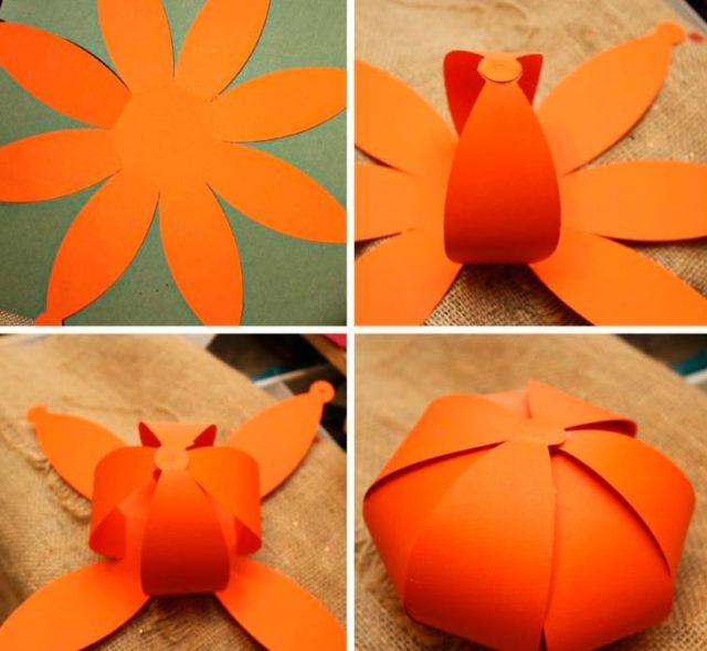 Объемная поделка апельсина