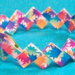 Бумажный браслет на руку сделанный своими руками