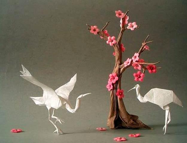 Аисты оригами