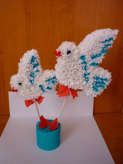 Птицы сделанные методом торцевания