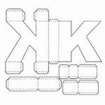 Буква к, схема, шаблон для распечатки и вырезания