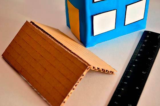 Делаем домик из коробки от сока