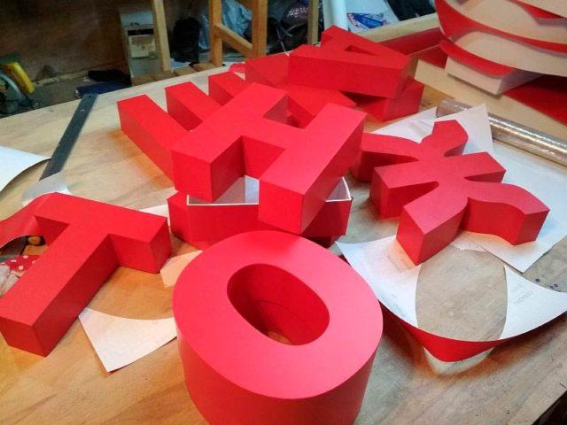 Объемные буквы из бумаги