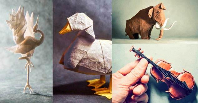 Поделки в технике мокрого оригами