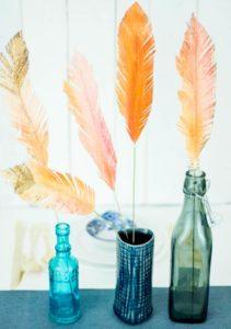 Бумажные перья в интерьере