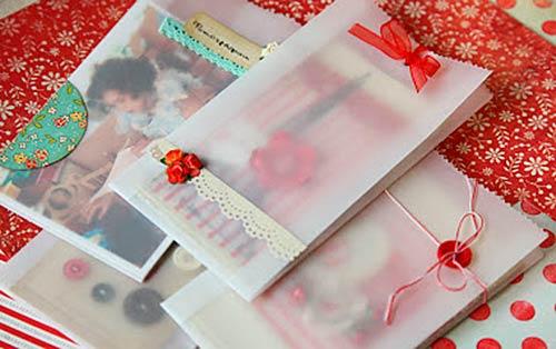 Подарочная упаковка из тонкой бумаги