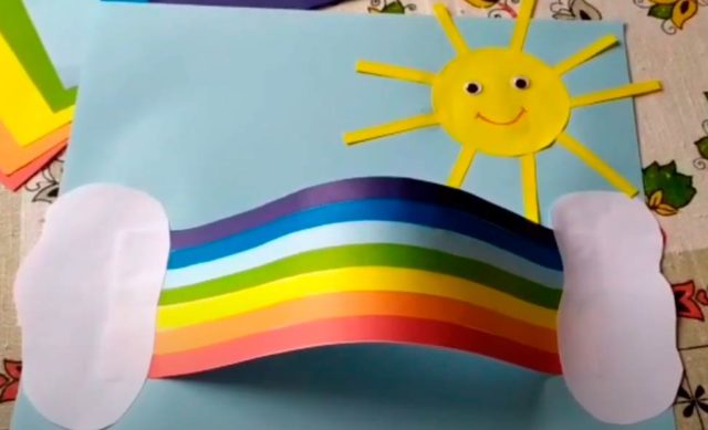 Создание бумажной радуги