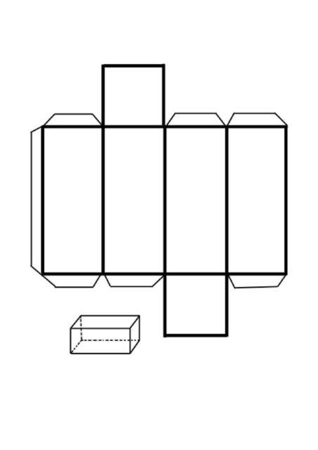 Развертка, схема параллелепипеда
