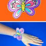 Браслет-бабочка на руку