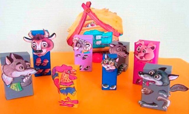 Кукольный театр из чайных коробок