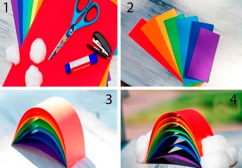 Создание бумажно радуги