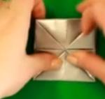 Создание оригами топорика