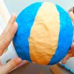 Как делать воздушный шар из бумаги