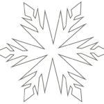 Шаблон, трафарет снежинки