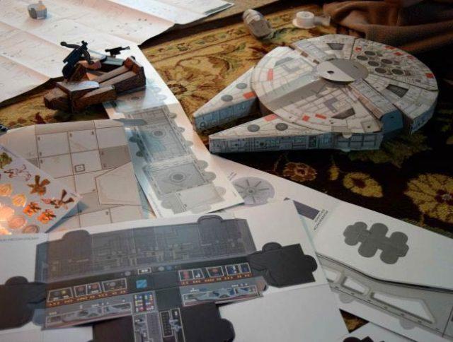 """Космический корабль """"Тысячелетний сокол"""" из звездных войн, макет"""