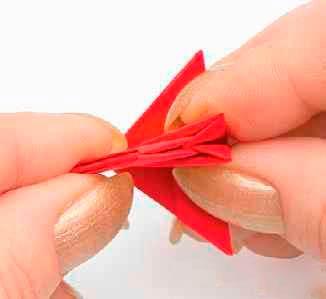 Сборка индюка в технике модульного оригами