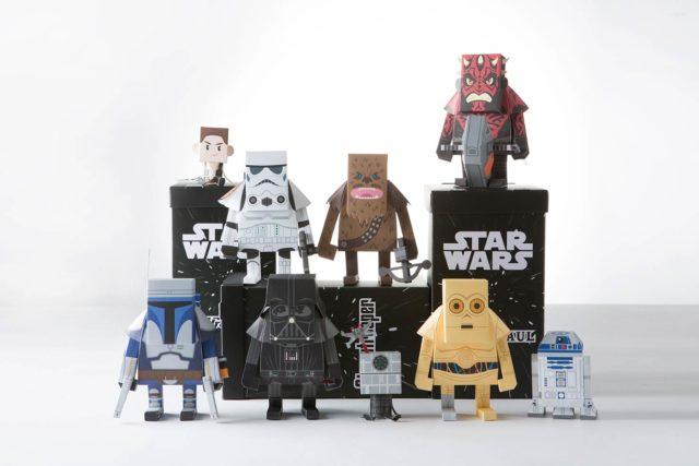 Персонажи звездных войн из бумаги