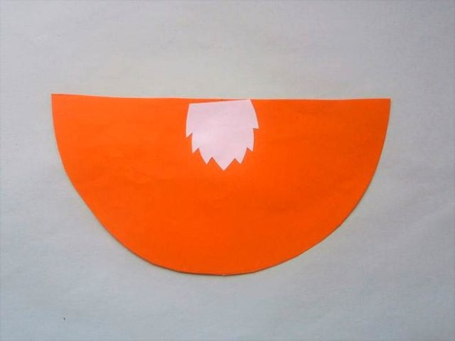 Лисичка из бумаги, пошаговое создание поделки